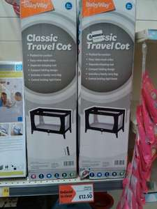 Babyway travel cot. £12.50 at Morrisons (Harwich)