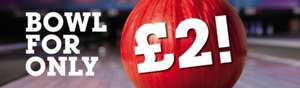 £2 per game @ Bowlplex Saturday and/or Sunday Mornings