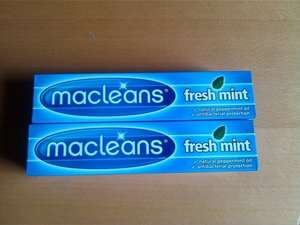 It was discontinued now it's back again. Macleans Freshmint Toothpase 100ml £1.00 @ Waitrose