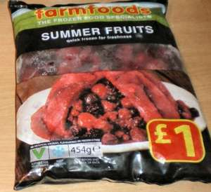 Summer fruits (Berries) 454gr 3 for £2.00 from Farmfoods