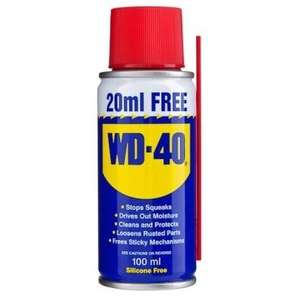 WD40 Can 80ml +20ml Extra Free @ poundland.  £1.00