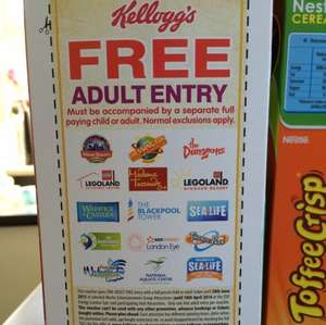 Free entry for 1 adult or one child when buying another adult or child ticket @ Kelloggs