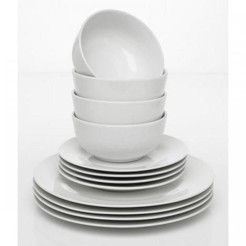 Wilko Porcelain Dinner Set White 12 Piece @ Wilkinson £5
