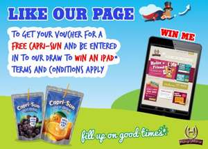 Free Capri Sun Voucher & Ipad competition entry @ Hungry Horse