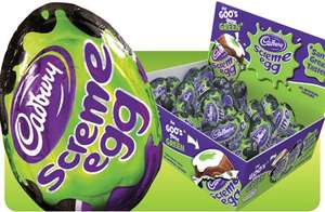 48 screme eggs £8 from Cadbury