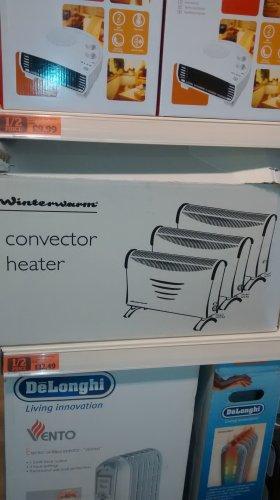 winterwarm electric convector heater half price £12.95 @ Sainsbury's in store