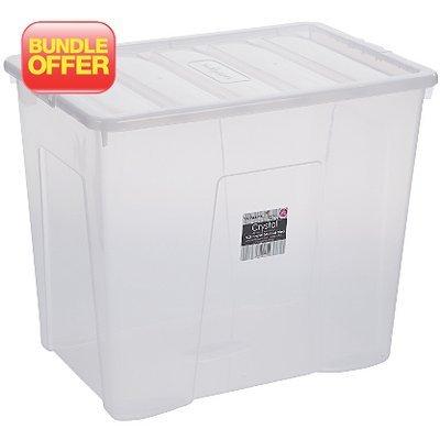 Wham Clear 160L Storage Box - 2 pack £9 @ ASDA (thats £4.50 per box)