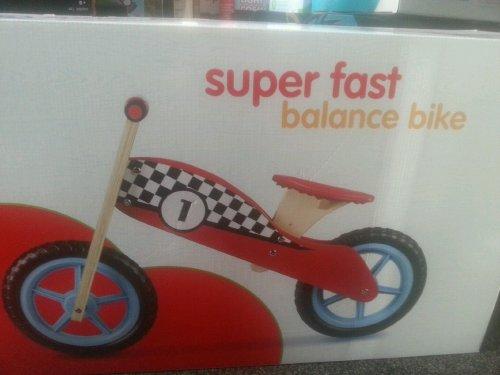 Super fast balance bike - Wooden £11.99 @ Sainsburys