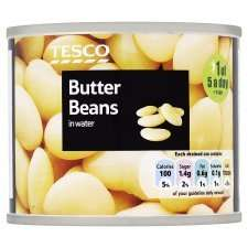 A range of different types of tinned beans (210g), 3 for £1.00 @ Tesco