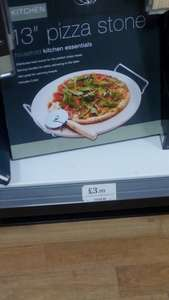 "13"" pizza stone & cutter £3.99 @ home bargains"