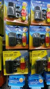 Led Bike Lights Set Front and Rear £1 @ Poundworld