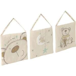 Toys R Us or Babies R Us 'I Love My Bear & Friends' Padded Pictures, Set of 3, £1.96 Click and Collect (Baby, Newborn, Nursery Decoration)