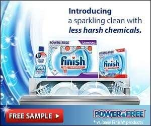 Free Sample Finish Dishwasher Detergent