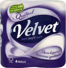 COSTCO - Quilted Velvet toilet rolls - 10 x 4 pack £10.78 inc VAT (from 24/02 to 16/03)
