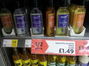 Ayuuri Flax Seed/ Coconut/ Almond/ Sesame/ Castor/ Olive Oil & Glycerine150ml all £1.49 @ Morrisons