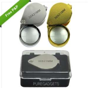 Professional Pocket Jewellers Loupe With Storage Case 30X Magnification £1.99 Free P&P @ eBay/ElectronicWorld Outlet