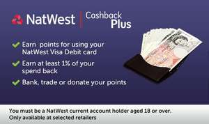 Natwest Cashback Plus - cashback on your regular spending