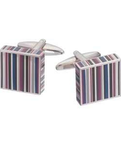 Onyx and Enamel Striped Cufflinks.    @argos.  Was £12.99. Now £3.99