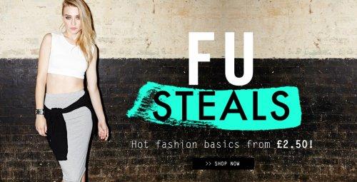 6 codes stacking!!! + Free P&P + 8.4% TCB - 10,10,15,20,25,30% off (~71% off + cashback)! @ Fashion Union