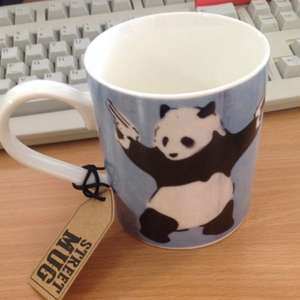 Banksy design mugs cups home bargains 99p hotukdeals banksy design mugs cups home bargains 99p gumiabroncs Image collections