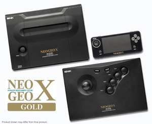 NeoGeo X - Gold Limited Edition -  Includes: NeoGeo X Docking Station, NeoGeo X Handheld, One NeoGeo X Arcade Stick and the Ninja Master's game card + 20 Pre loaded games + HDMI cable @ FunStock