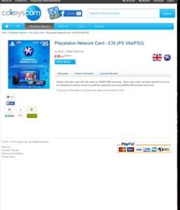 £35 PSN Credit for £28.97 @ CDKEYS.com ( with 5% code ) PS4 PS3 PS VITA