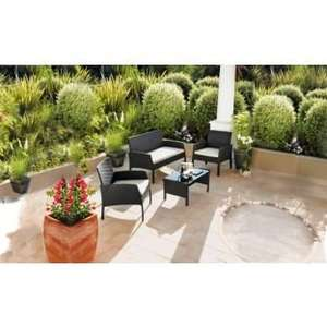 Wow Rattan 4 Seater Garden Patio Furniture Set @ Argos £199.99
