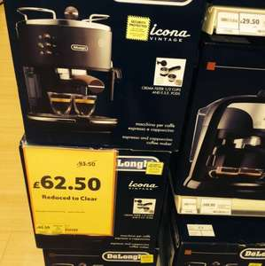 Delonghi Icona Vintage ECOV310.BK Black Matt £62.50  instore at Tesco Home