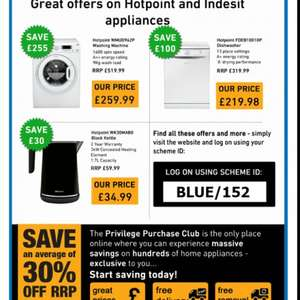 Emergency services - Hotpoint / Indesit Privilege Club for exclusive discounts