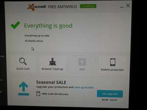 Avast antivirus.,  66% off with a download see details below £9.99 @ Avast