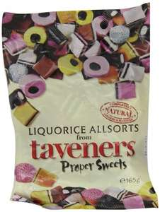 Taveners Liquorice Allsorts 165 g (Pack of 12) £4.89 @ Amazon (60%off) Was £12.34 add on item