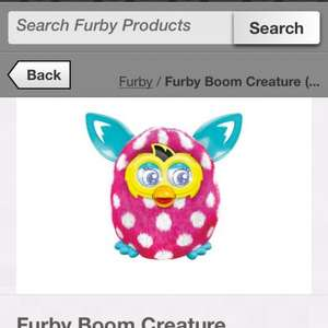 Furby boom £39.98 reduced from £60 at Sainsburys instore