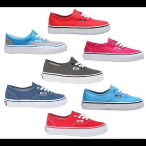 Kids vans £11.99 posted fiery red and two tone blue left @ Ebay/ footasylumoutlet