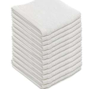 12 x 100% Cotton Face Cloth Towel Flannels - Plain White Drop from £34.99 to £6.53 save £28.46(81%) Free delivery @ brooklyntradingltd / Ebay