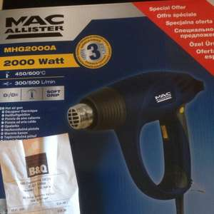 Mac Allister Heat Gun was £39.99 scanning at £14.98 @ B&Q