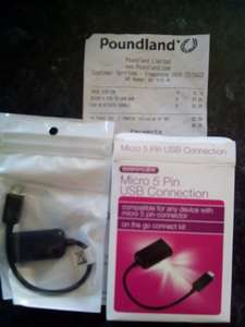 Micro usb adapter £1 @ Poundland