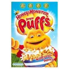 Honey Monster Sugar Puffs big 625g box £1.62 @Tesco