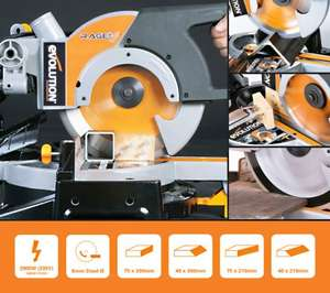 Evolution Rage3 255mm sliding mitre saw manufacturer refurbished £99.36 delivered eBay / evooutlet