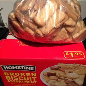 1kg broken biscuits for £1.19 at home bargains