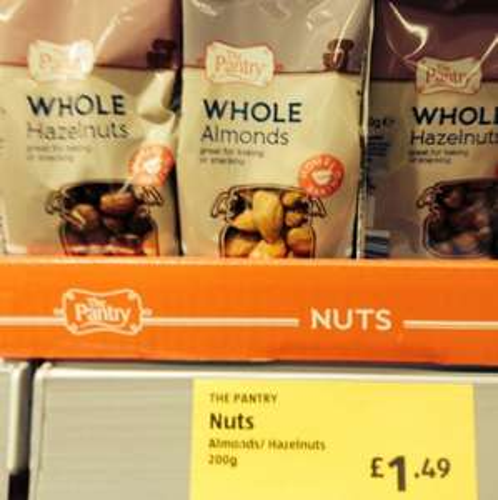 Almonds/ Hazelnuts @ Aldi £1.49 200g