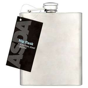 Stainless Steel Hip Flask @ asda.  Now £1.00