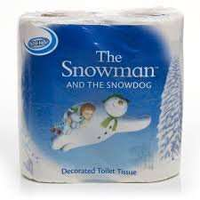 Pack of 4 The Snowman toilet rolls 69p @ home bargains