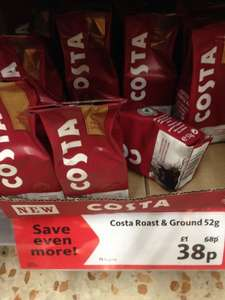 Costa Ground Coffee 52g Sachets 38p in Morrison's reduced from £1.00