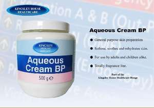 Kingsley House Aqueous Cream 500g £1 @ Poundland