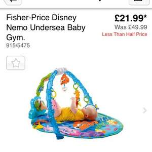 Fisher price Disney nemo undersea baby gym £21.99 @ Argos
