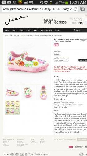 lelli Kelly LK9250 Baby Zoo Bar Shoes  Elephantwas £44.50 now £26 @ jakes -loads of styles