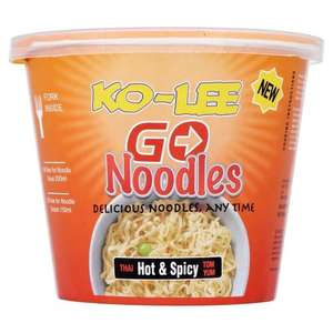 Ko-lee Go Cup Noodles Hot and Spicy Flavour 65 g (Pack of 6) - £2.82 (Add-on Item) @ Amazon
