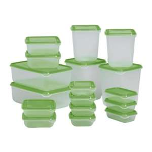 PRUTA Food container, set of 17, transparent, green £3 @ IKEA instore