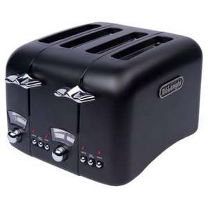 DeLonghi Argento Black 4slice Wide Slot Toaster half price £34.99 @ Sainsbury(free click & collect)