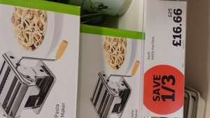 Swift Pasta maker machine £16.66 @ sainsburys instore